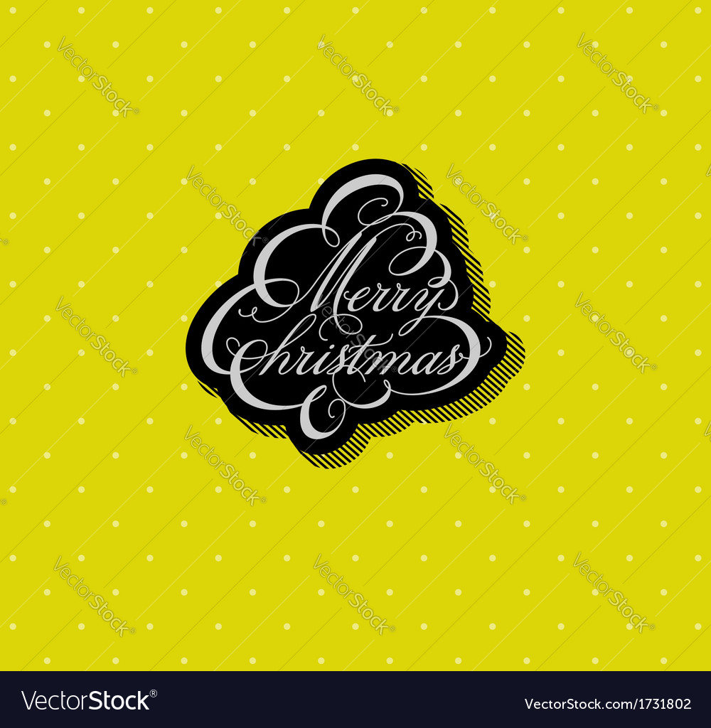 Calligraphic christmas tree vector | Price: 1 Credit (USD $1)