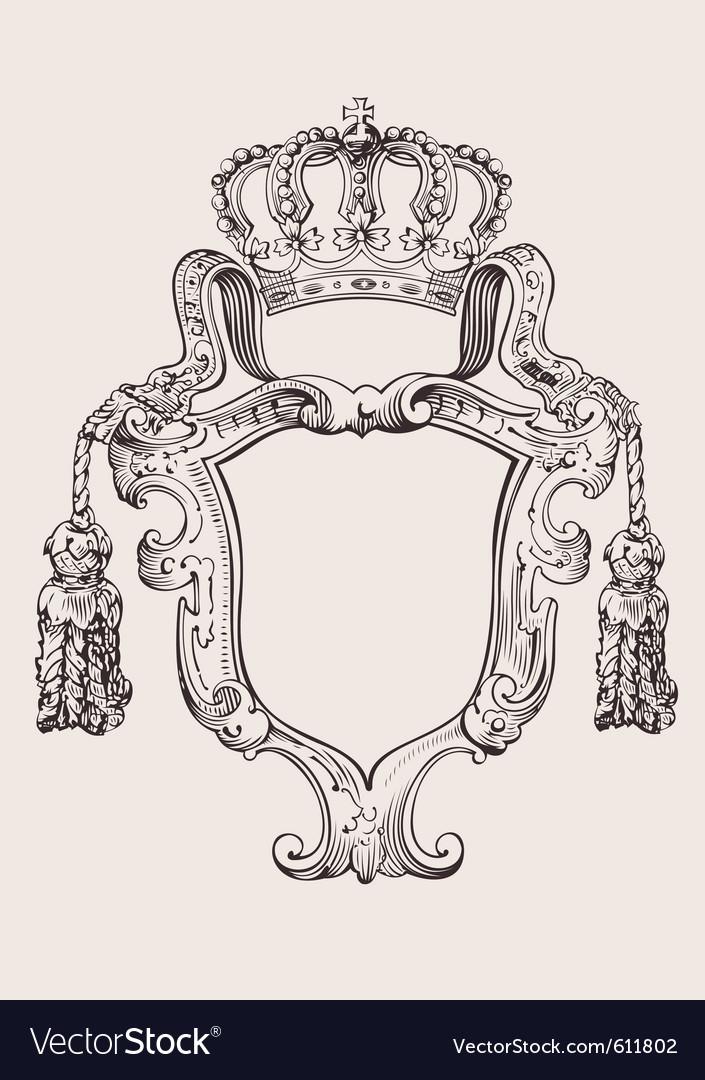 Crown insignia vector | Price: 1 Credit (USD $1)