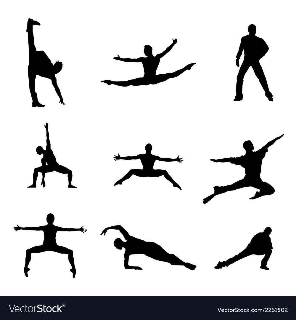 Dancing man silhouette download vector | Price: 1 Credit (USD $1)