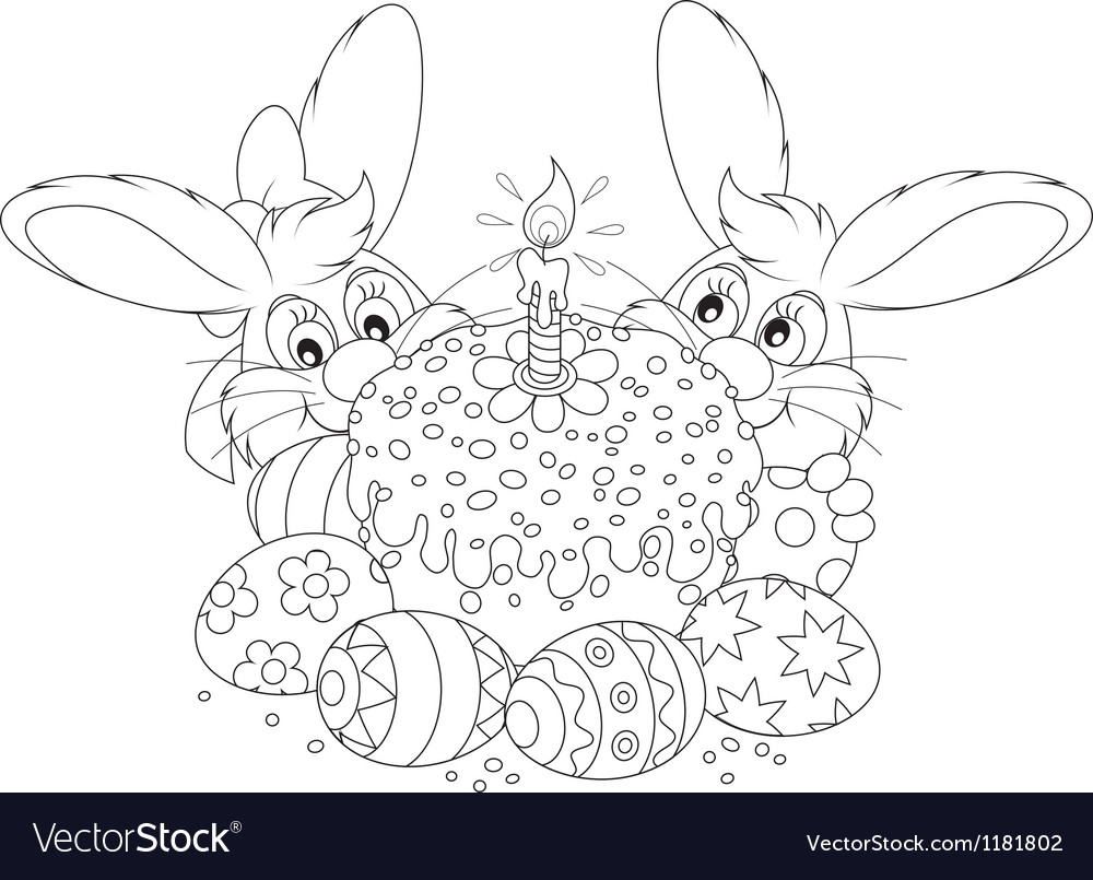 Easter cake and eggs vector   Price: 3 Credit (USD $3)