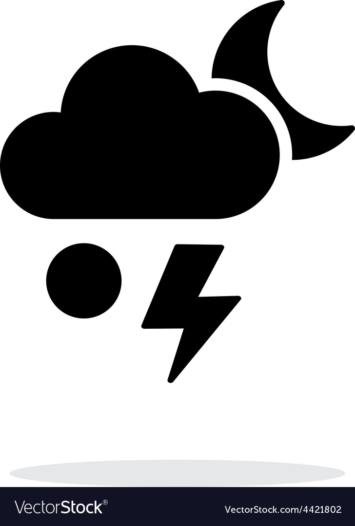 Hail at night weather simple icon on white vector | Price: 1 Credit (USD $1)