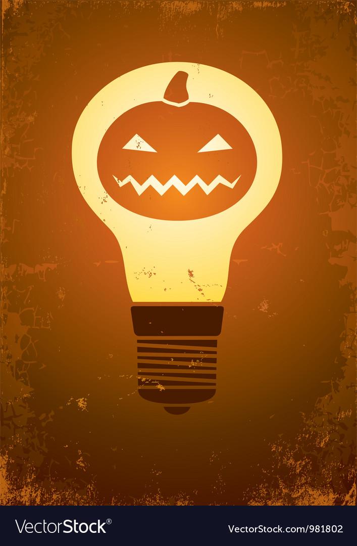 Halloween bulb vector   Price: 1 Credit (USD $1)