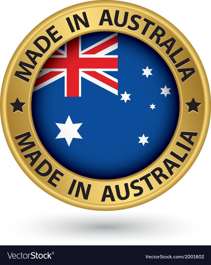 Made in australia gold label vector | Price: 1 Credit (USD $1)