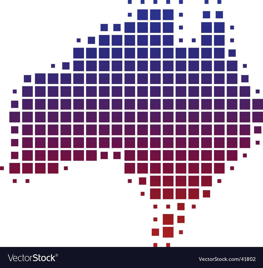 Map of australia vector | Price: 1 Credit (USD $1)