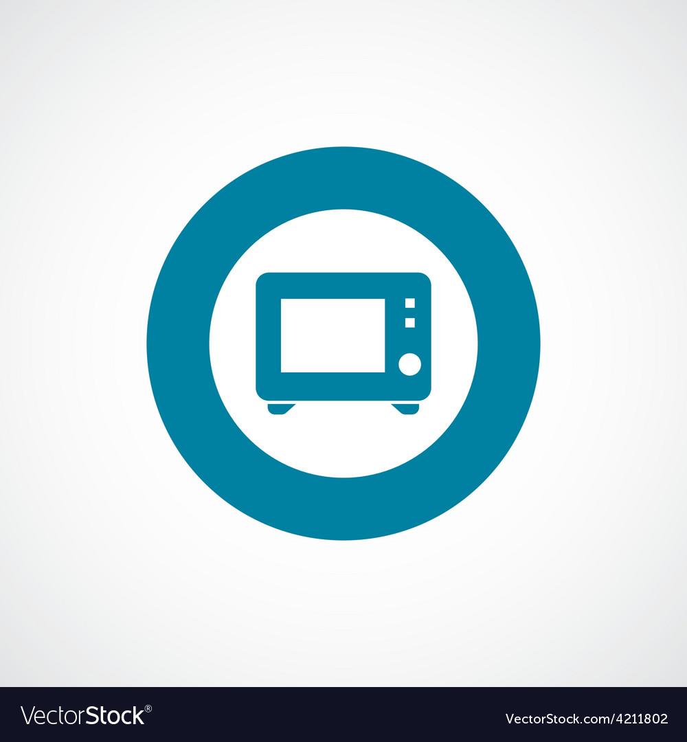 Microwave icon bold blue circle border vector | Price: 1 Credit (USD $1)