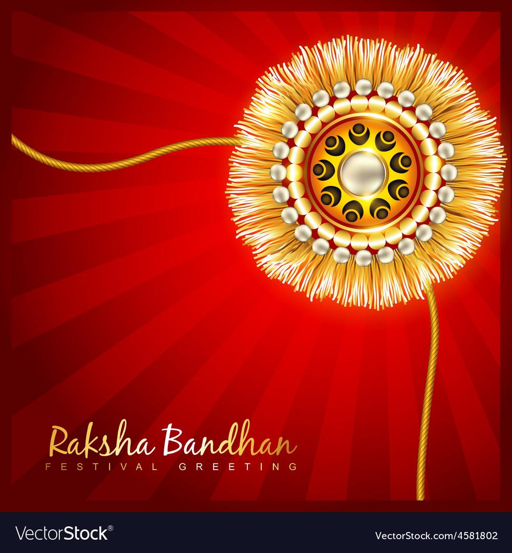 Raksha bandhan festival design vector | Price: 1 Credit (USD $1)