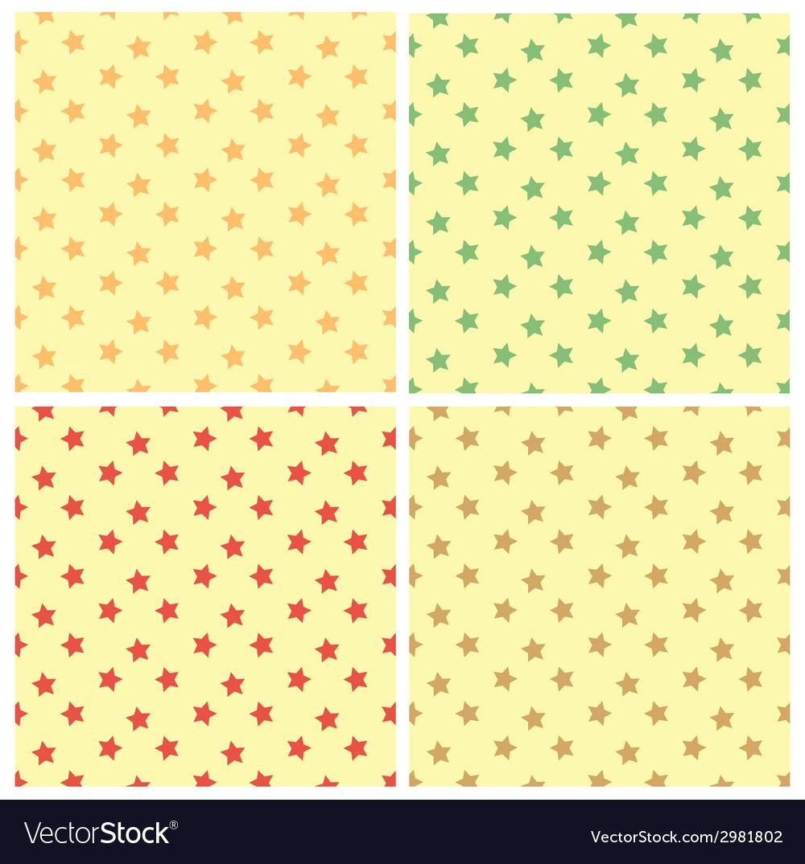 Stars seamless pattern set vector | Price: 1 Credit (USD $1)