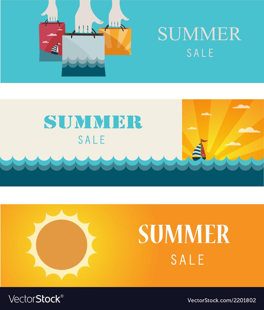 Summer sale  vintage bannerscards vector | Price: 1 Credit (USD $1)