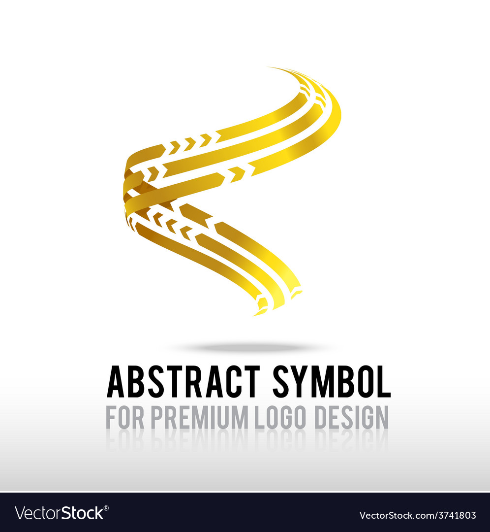 Abstract premium gold and spiral logo symbol vector | Price: 1 Credit (USD $1)