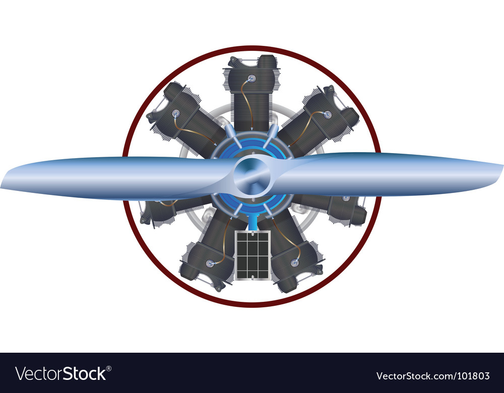 Airplane engine vector | Price: 1 Credit (USD $1)