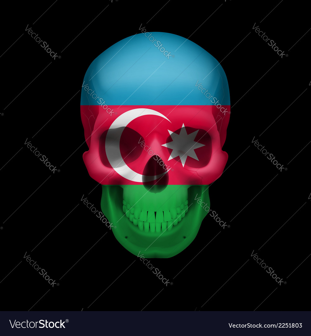 Azerbaijanian flag skull vector | Price: 1 Credit (USD $1)