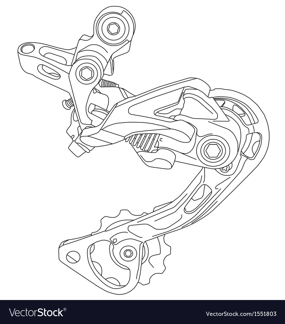 Bicycle rear derailleur vector | Price: 1 Credit (USD $1)