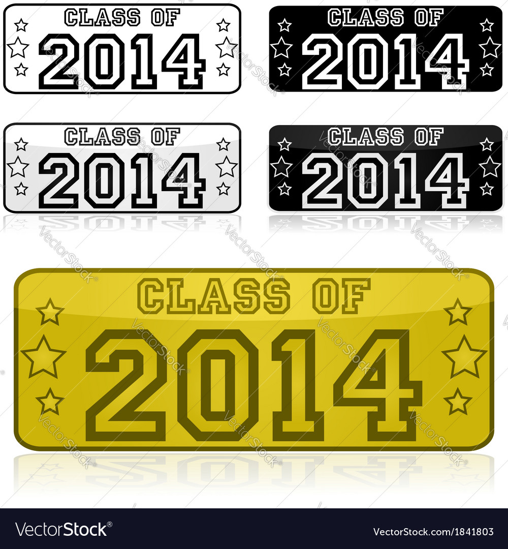 Class of 2014 stickers vector | Price: 1 Credit (USD $1)