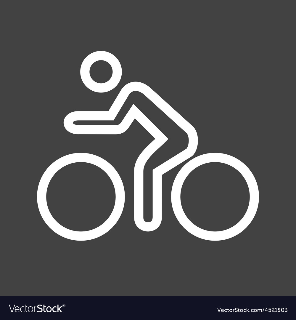 Cycling person vector | Price: 1 Credit (USD $1)