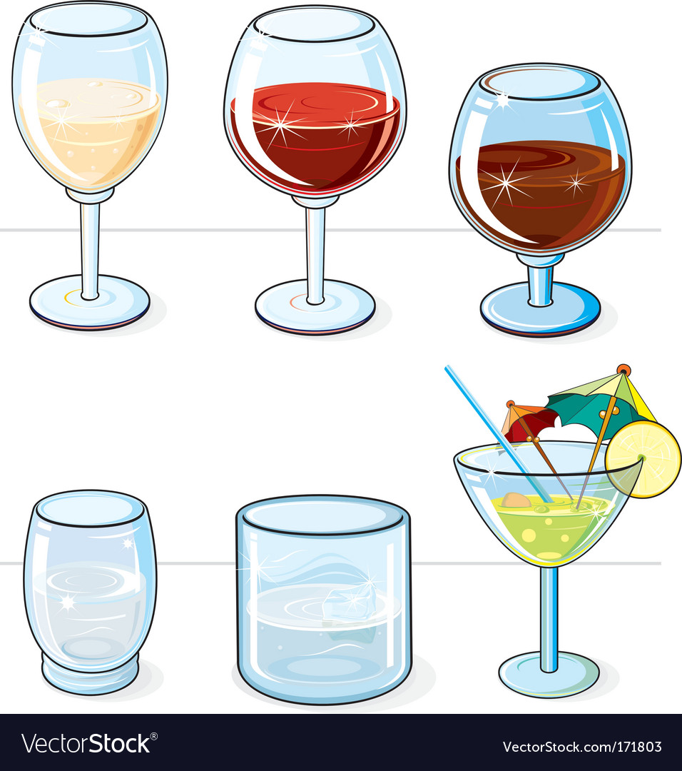 Drink icons vector | Price: 1 Credit (USD $1)