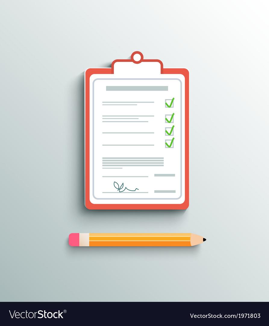 Flat design delivery signature clipboard vector   Price: 1 Credit (USD $1)