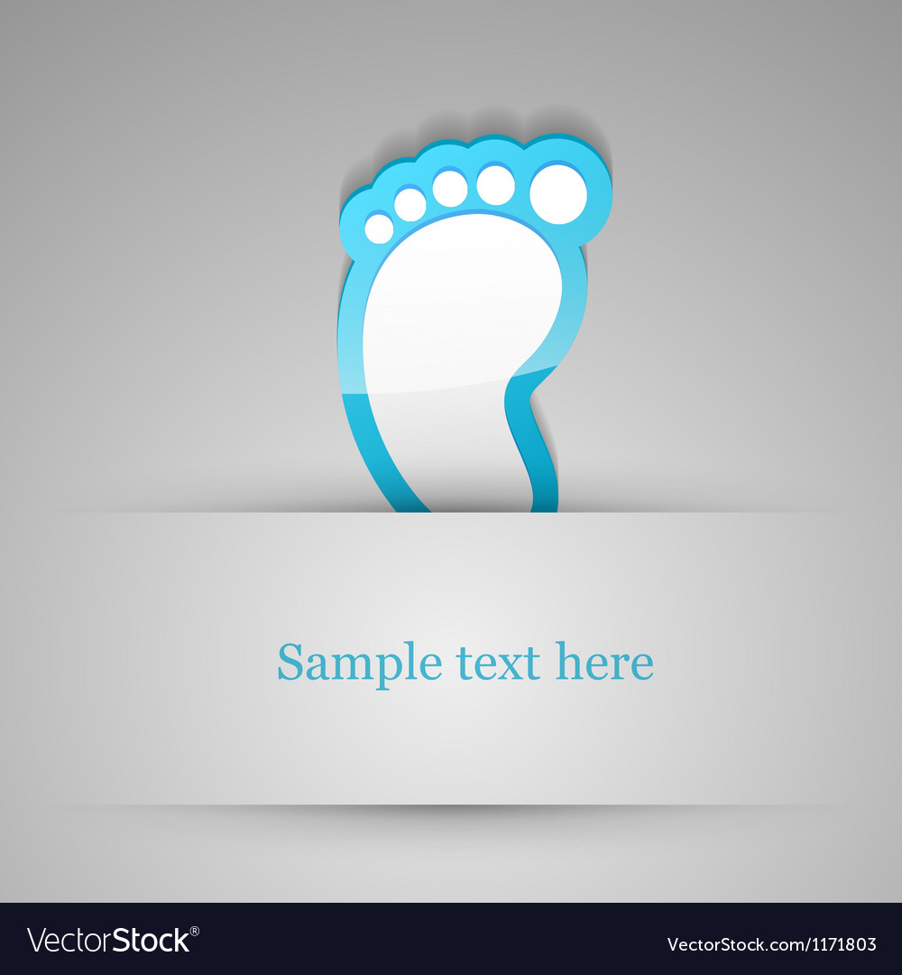 Footprint sticker vector