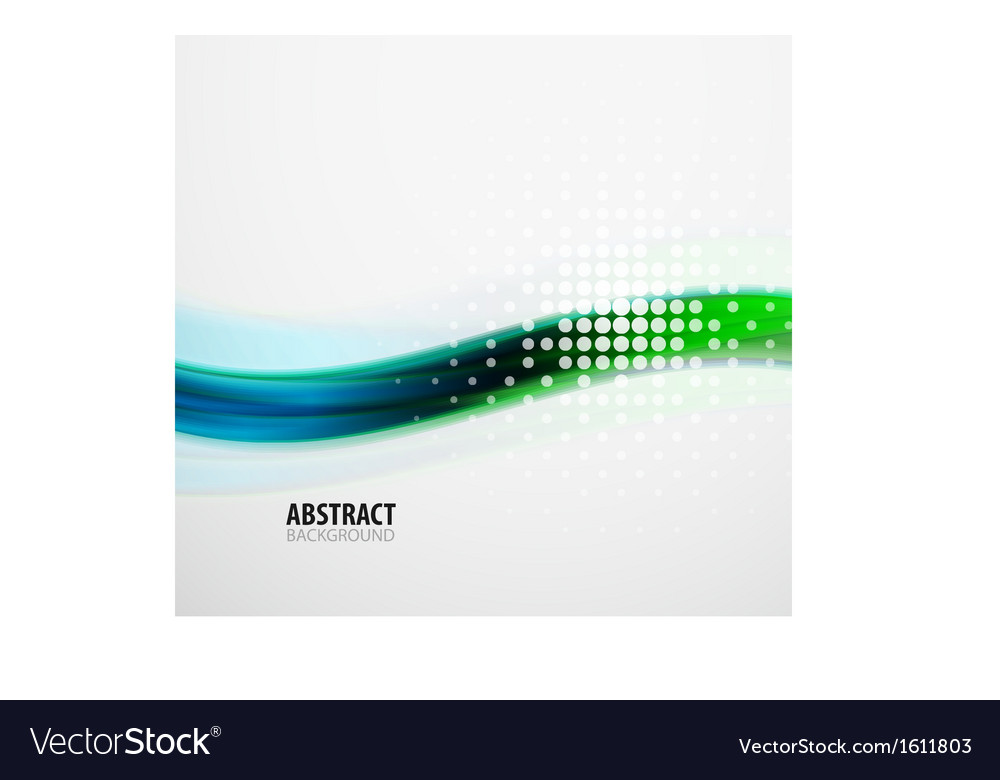 Green and blue techno abstraction wave vector | Price: 1 Credit (USD $1)