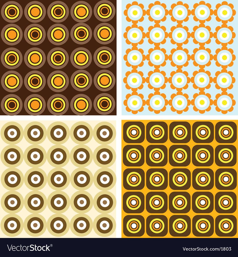 Retro patterns vector | Price: 1 Credit (USD $1)