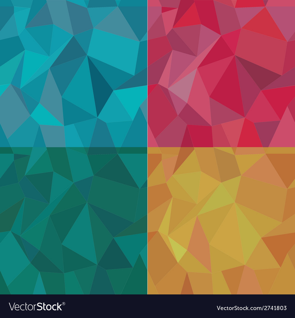 Seamless polygonal pattern set background vector | Price: 1 Credit (USD $1)