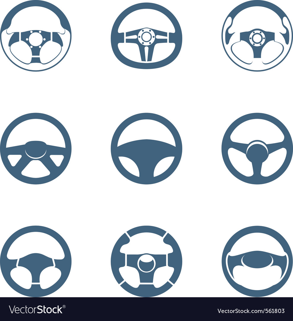 Steering wheels vector | Price: 1 Credit (USD $1)