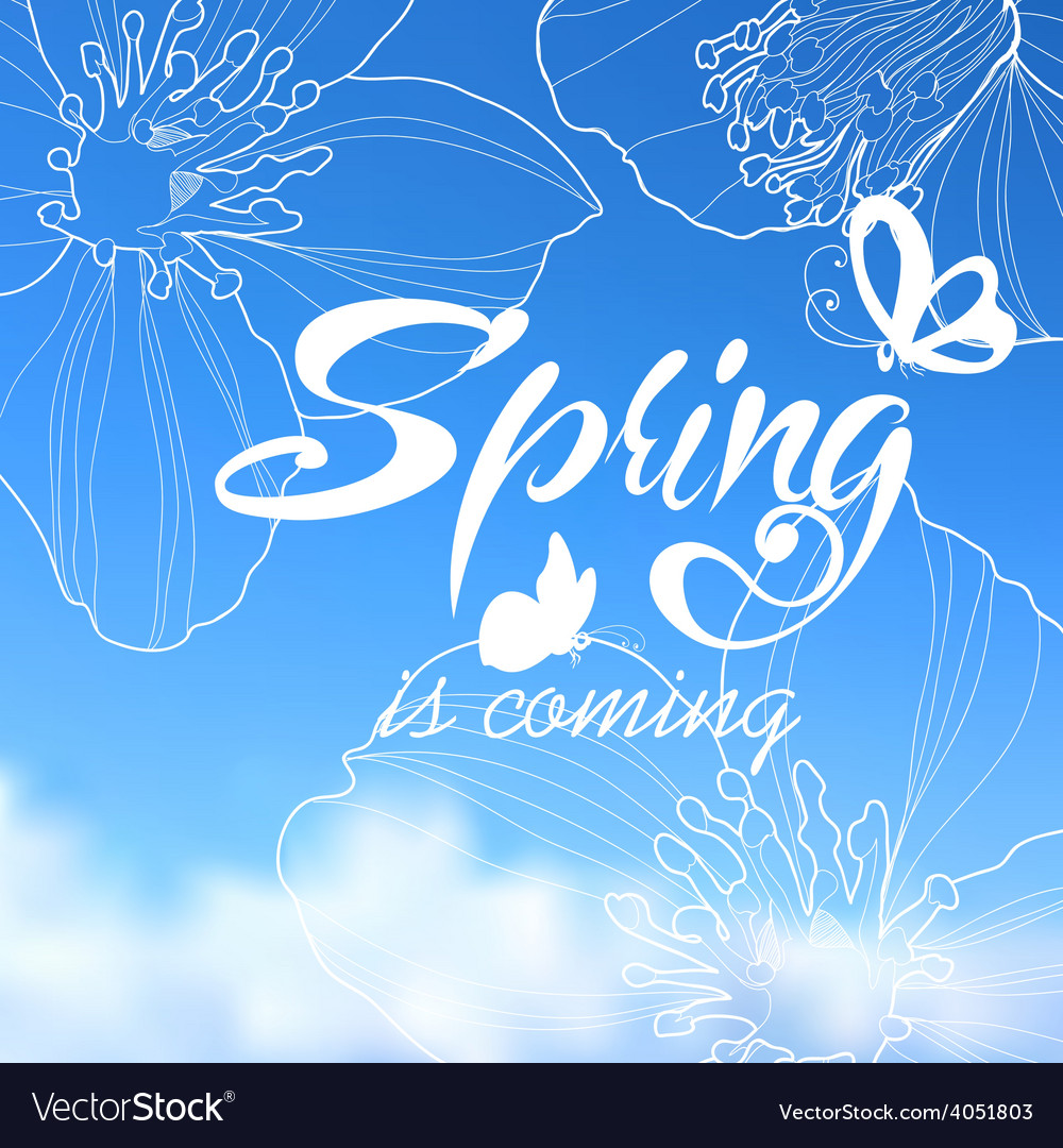 Typographic design lettering spring design with vector