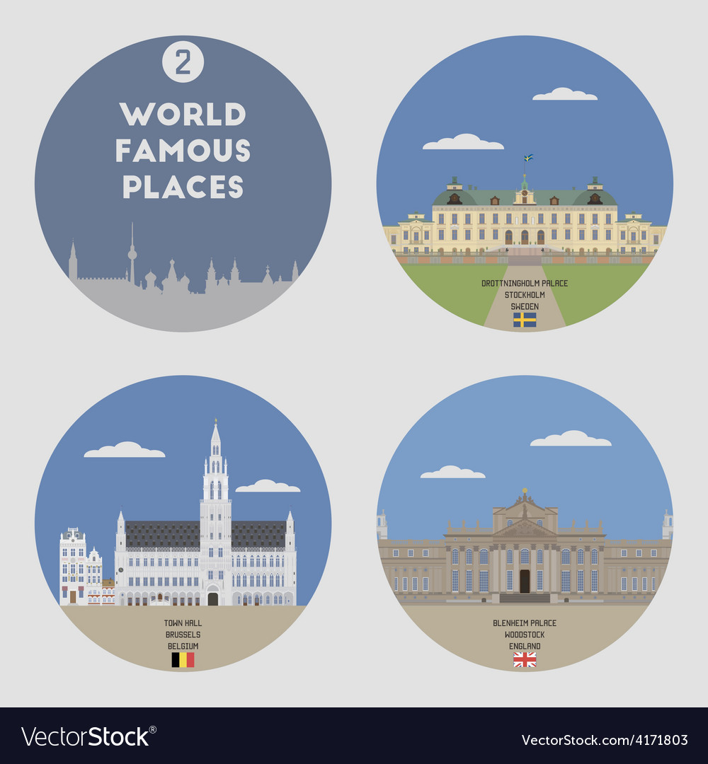World famous places vector | Price: 1 Credit (USD $1)