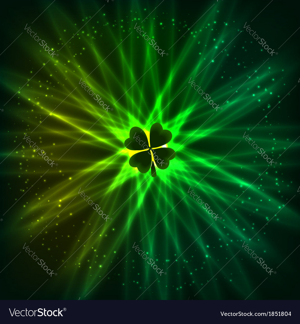 Abstract shining clover background vector   Price: 1 Credit (USD $1)