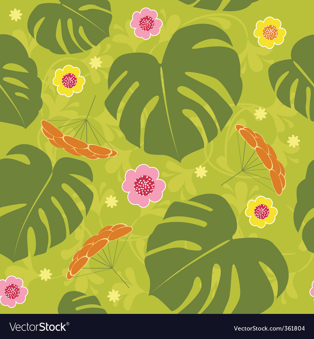 Al seamless floral vector background vector | Price: 1 Credit (USD $1)