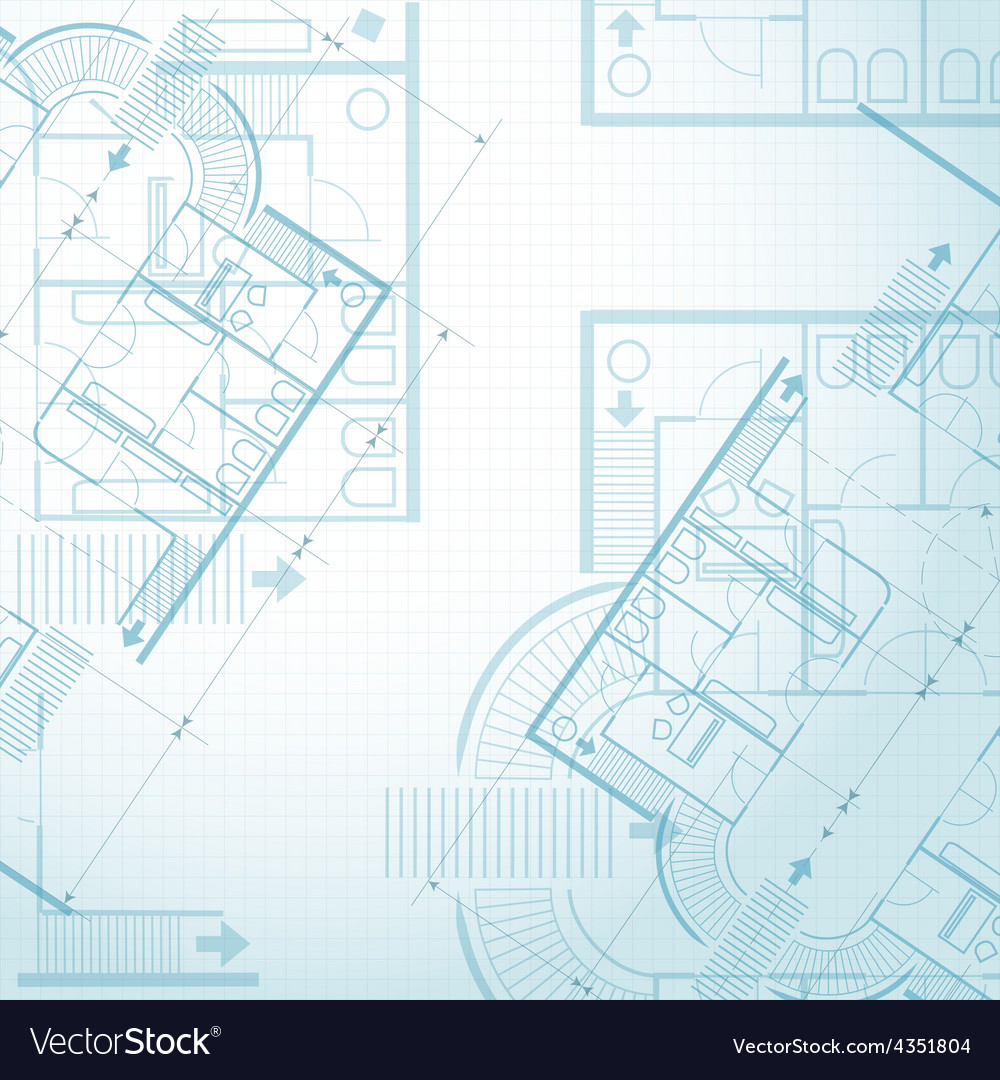 Architectural plan background vector | Price: 1 Credit (USD $1)