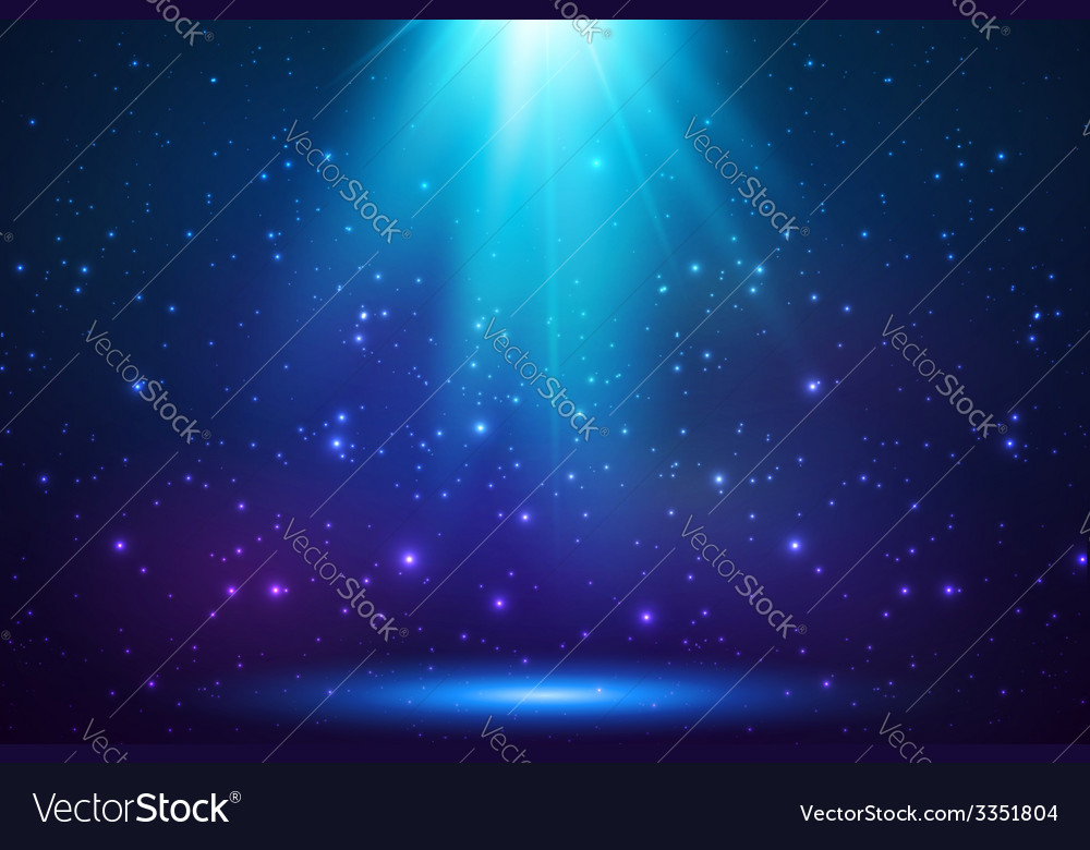 Blue shining top magic light background vector | Price: 1 Credit (USD $1)