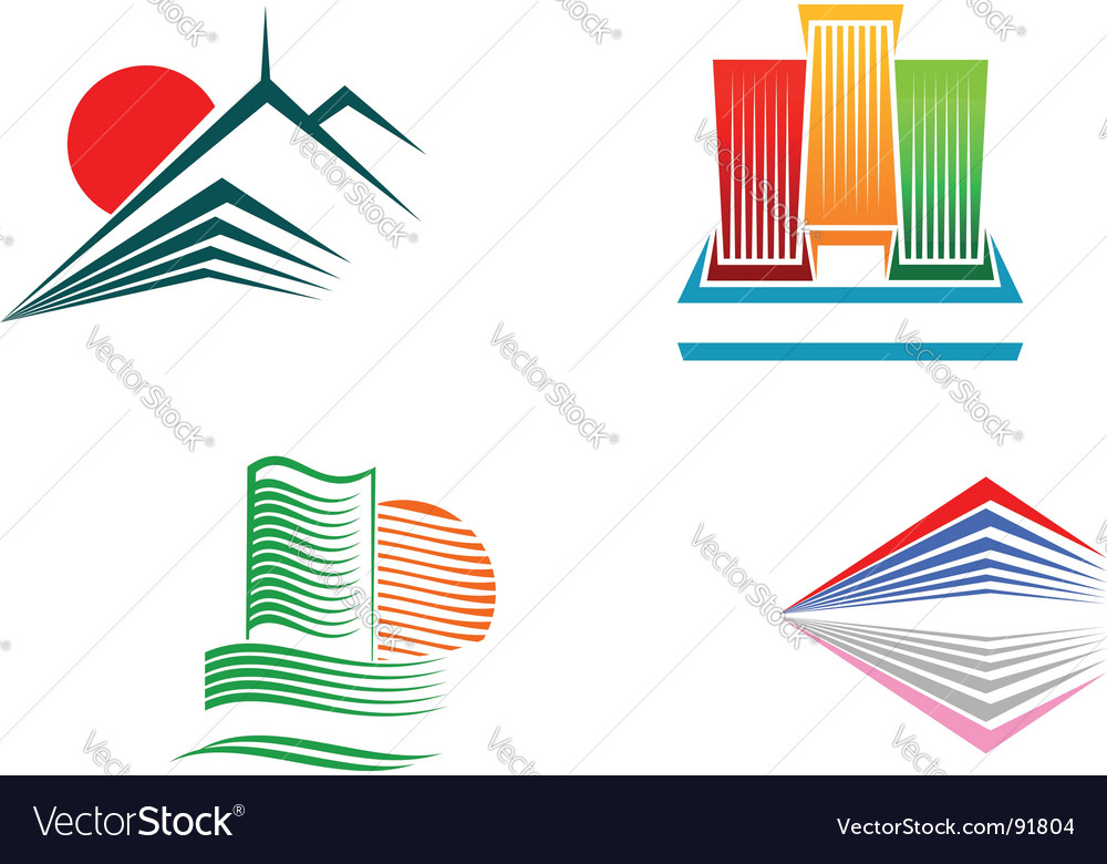 Buildings symbols vector | Price: 1 Credit (USD $1)