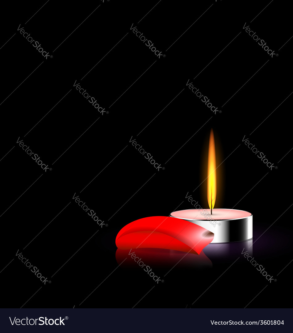 Candle and red petal vector | Price: 1 Credit (USD $1)