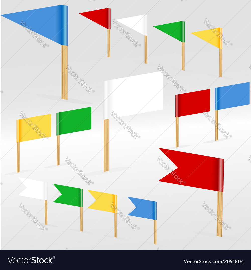 Colorful flags vector | Price: 1 Credit (USD $1)