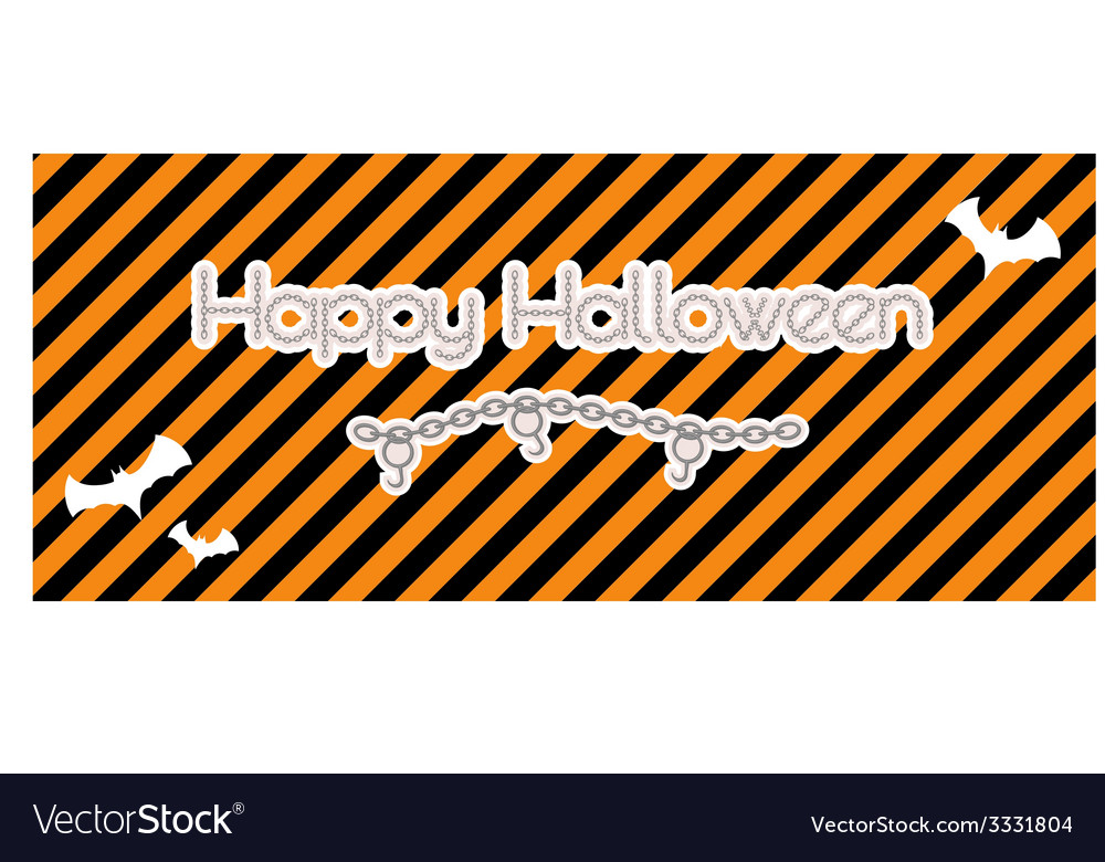 Happy halloween created from chain vector | Price: 1 Credit (USD $1)