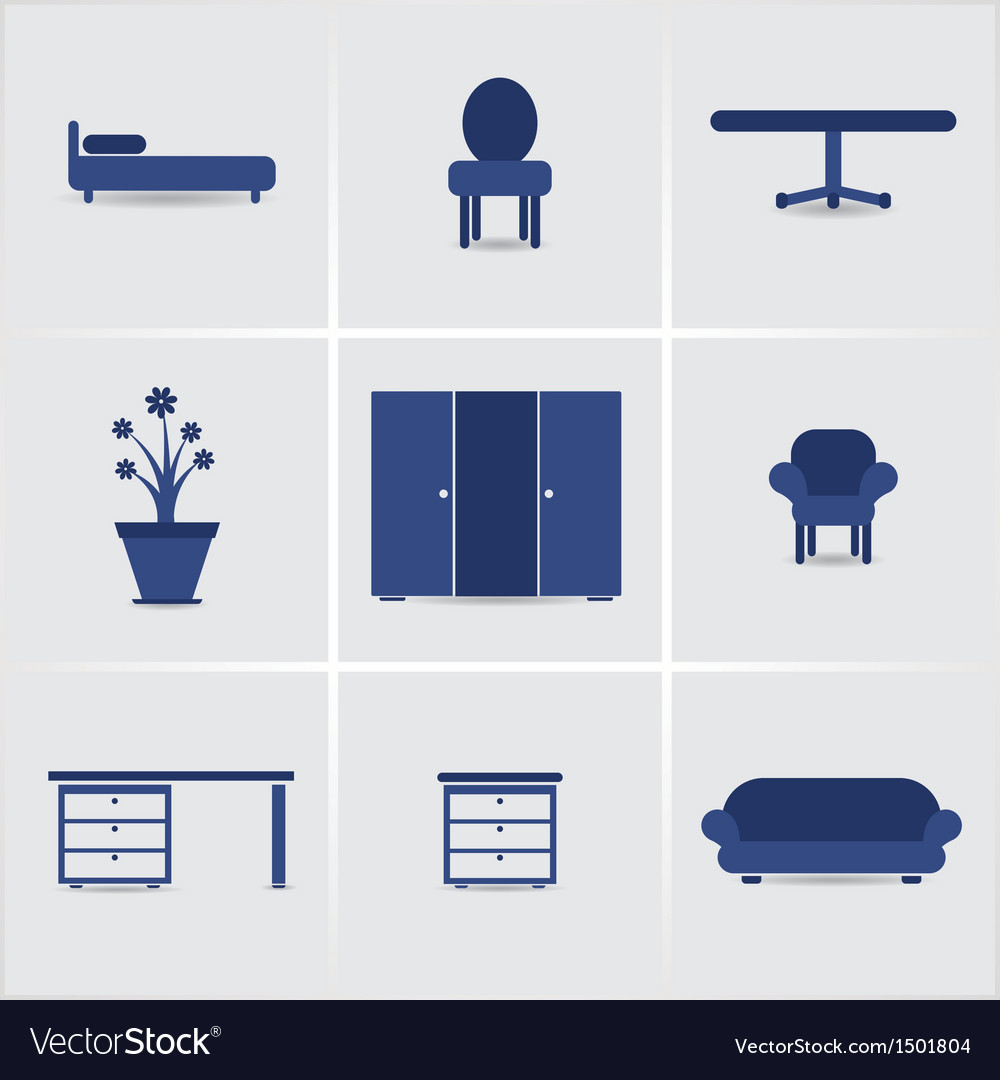 Icons furnniture vector | Price: 1 Credit (USD $1)