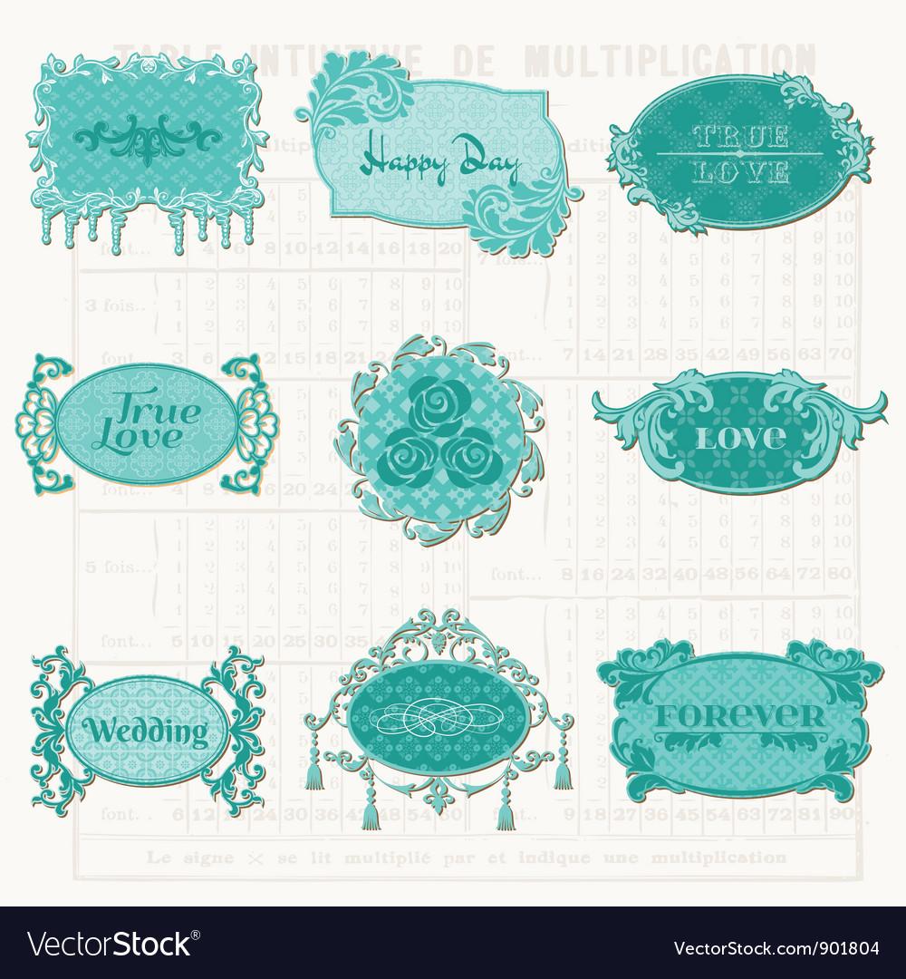 Vintage design elements for scrapbook vector | Price: 1 Credit (USD $1)