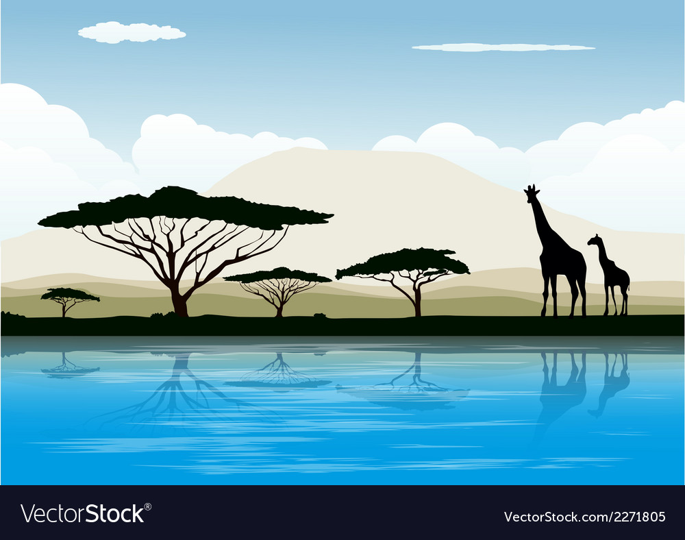 Africa landscape vector | Price: 1 Credit (USD $1)
