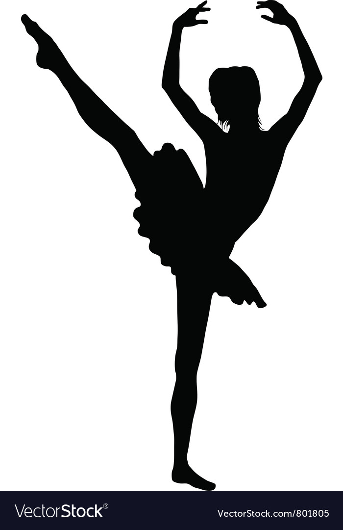 Ballerina silhouette vector | Price: 1 Credit (USD $1)