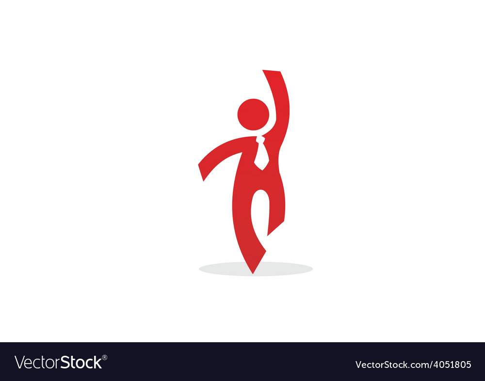 Businessman success abstract logo vector | Price: 1 Credit (USD $1)