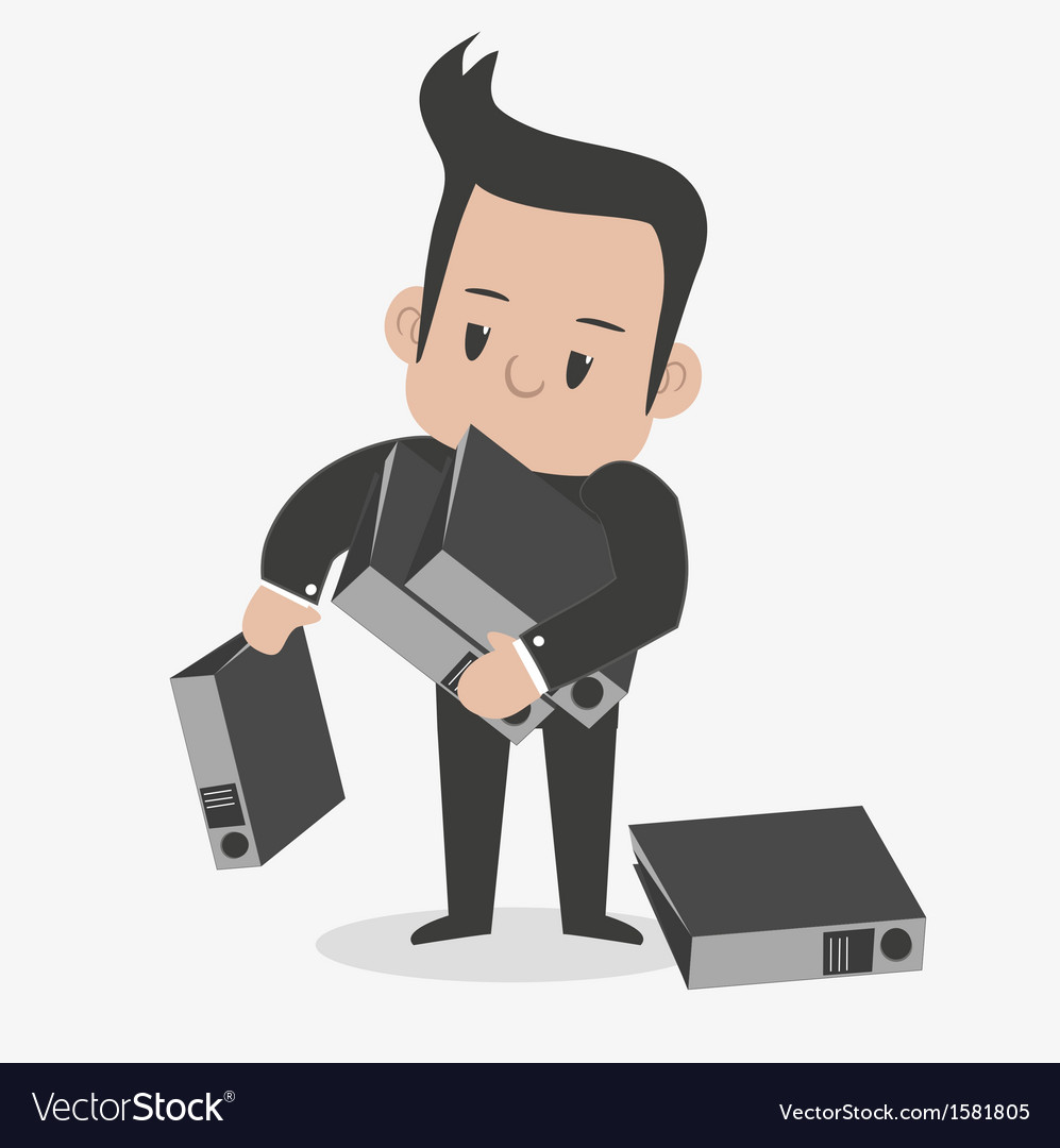 Busy-man vector | Price: 1 Credit (USD $1)