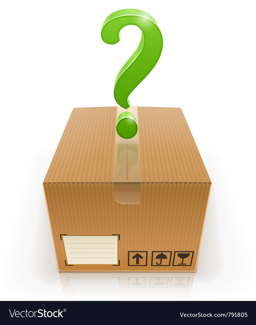 Closed box with question mark vector | Price: 3 Credit (USD $3)
