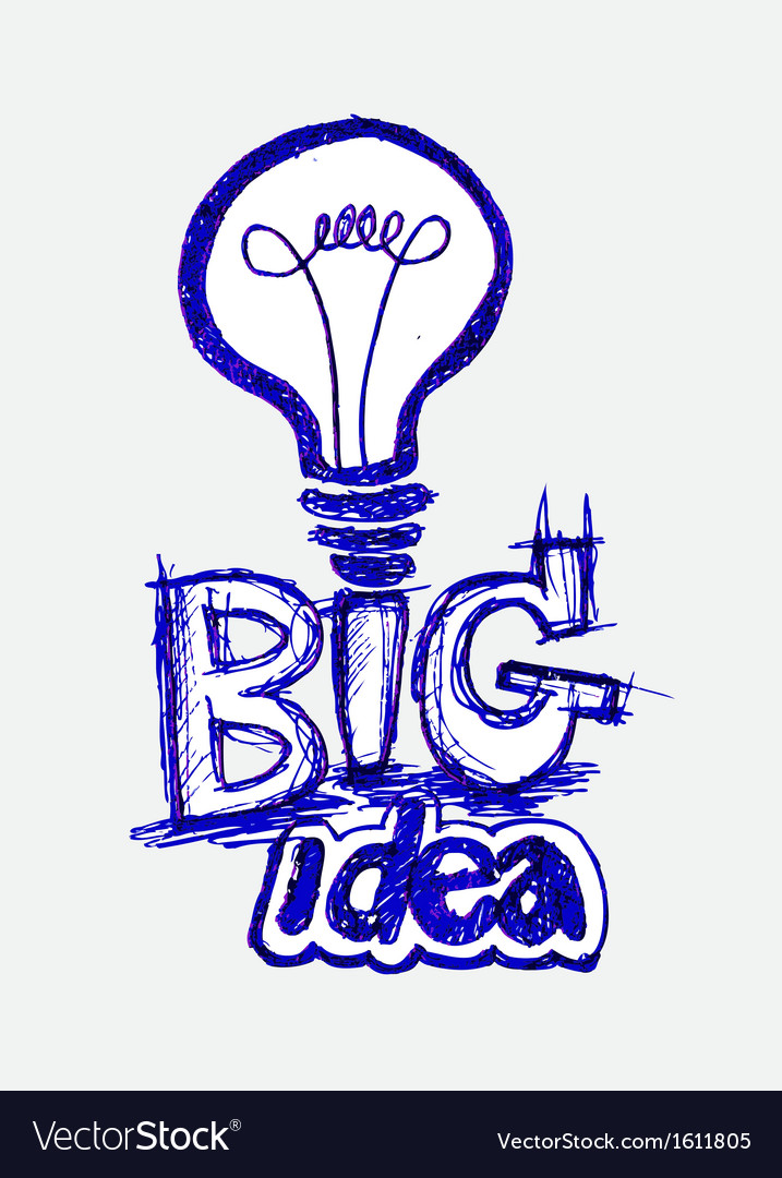 Concept of big idea inspired bulb vector | Price: 1 Credit (USD $1)