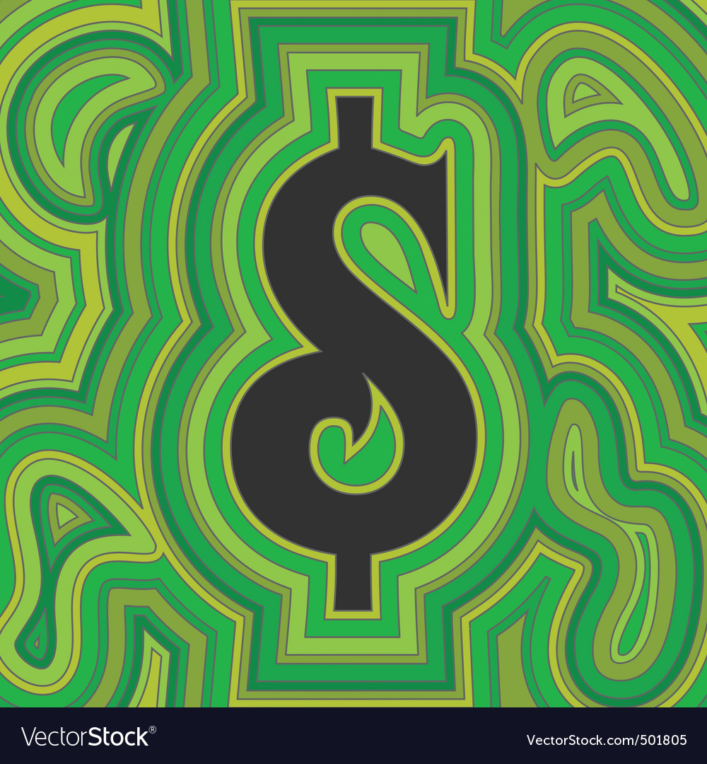 Groovy money vector | Price: 1 Credit (USD $1)