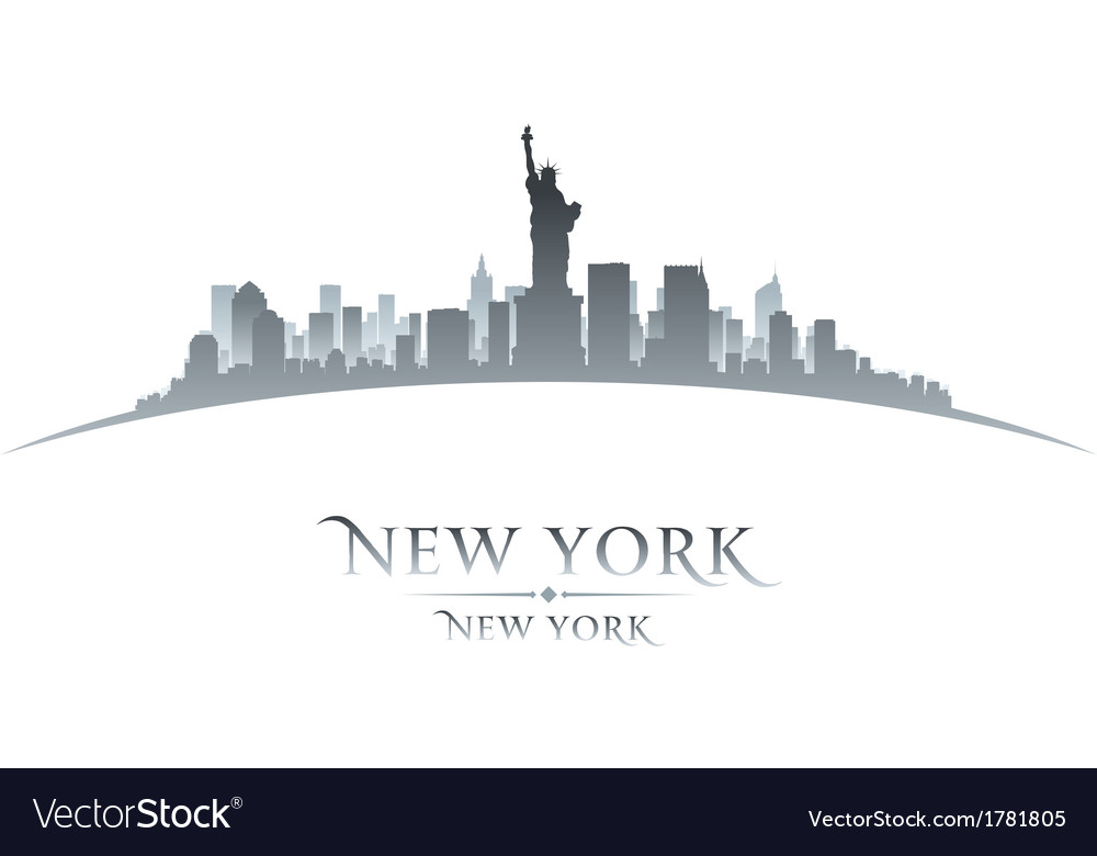 New york city skyline silhouette vector | Price: 1 Credit (USD $1)