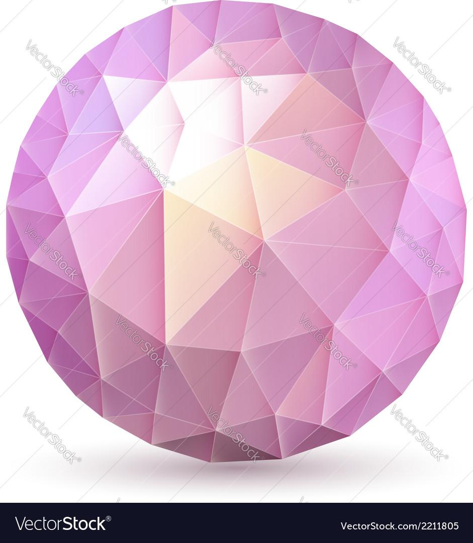 Polygonal sphere vector | Price: 1 Credit (USD $1)