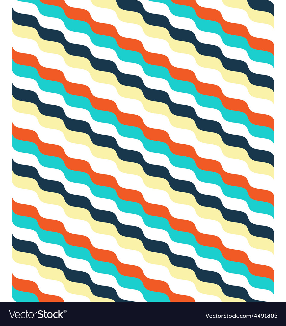 Seamless bright abstract wave pattern vector | Price: 1 Credit (USD $1)