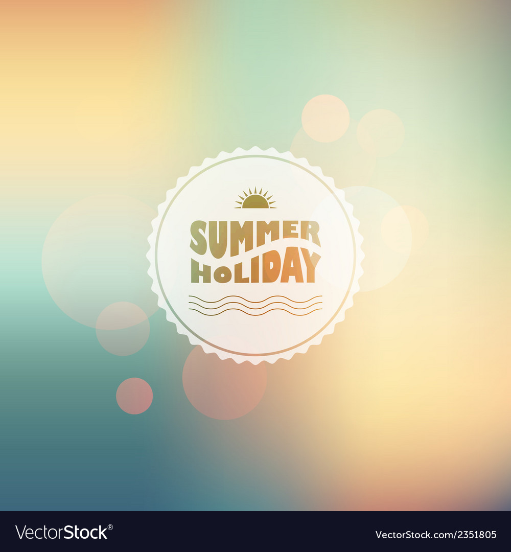 Sunny shine background with summer text vector | Price: 1 Credit (USD $1)