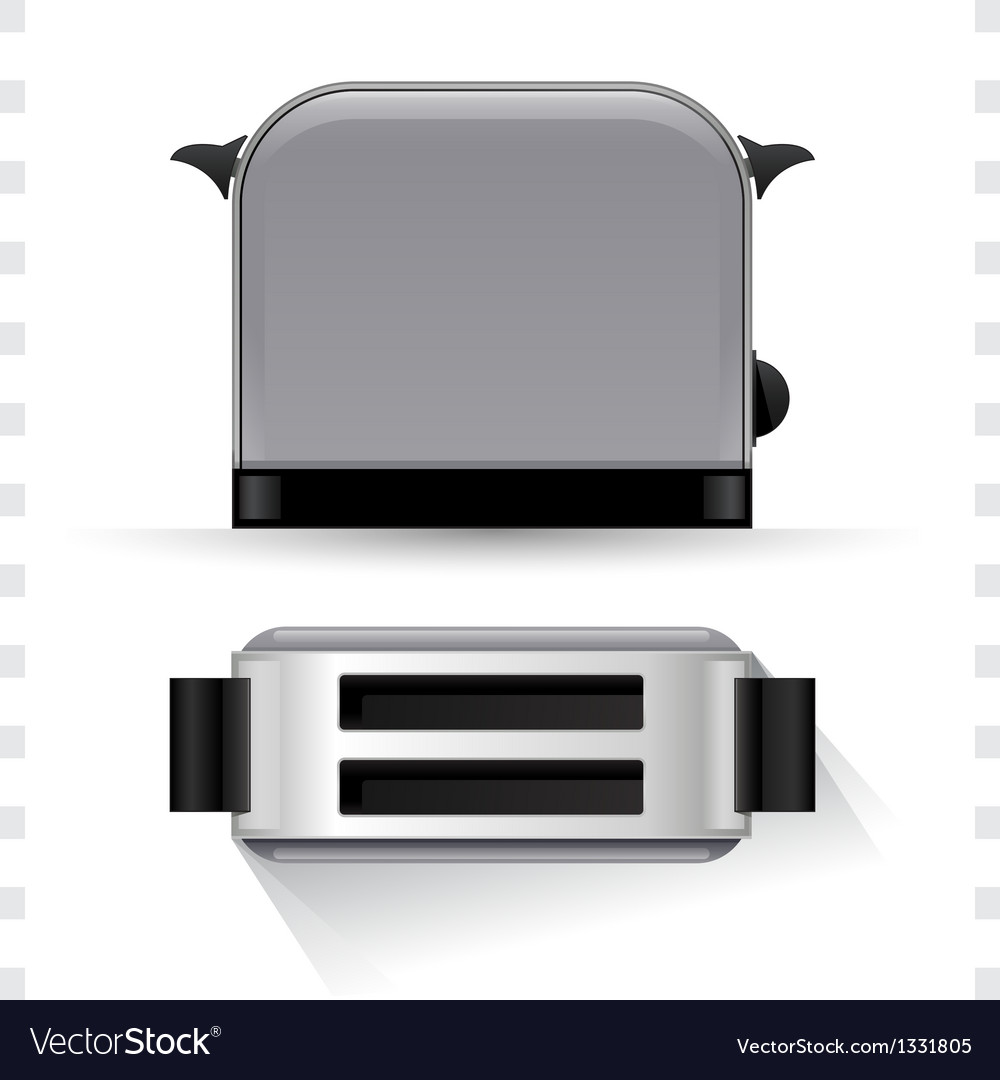 Toaster icons top and side view vector | Price: 1 Credit (USD $1)