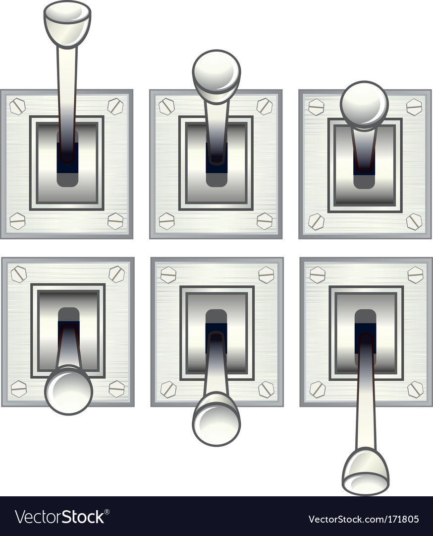 Toggle switch vector | Price: 1 Credit (USD $1)